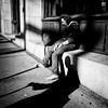 Living in the shadows (. Jianwei .) Tags: street city light shadow urban vancouver mood candid sony oldman seymourst kemily