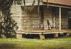 Looking Back I (marysmyth(NOLA13) ) Tags: wood trees nature cane rural moss louisiana chairs historic sugar plantation mississippiriver verandah slave primitive cabins disrepair edgard evergreenplantation theoldsouth itwasasadquietplace
