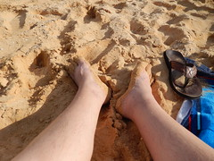 My feet on the beach at Makena Beach on Maui (litlesam1) Tags: hawaii maui larry beaches myfeet hawaiidayfiveontomaui