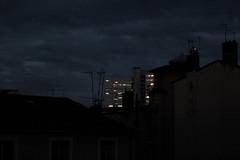 Vies lointaines (Glaneuse) Tags: city windows night buildings dark lights evening town gloomy distant faraway