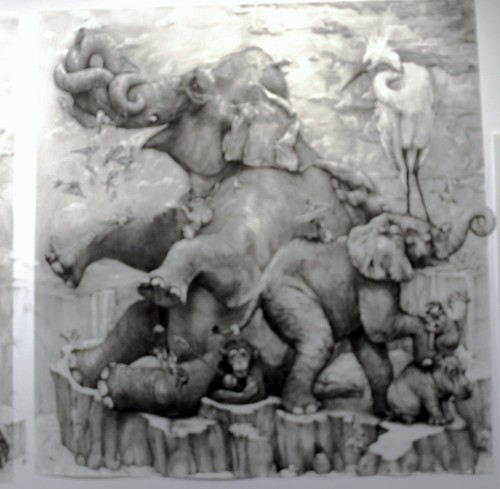 "DETAIL FROM 2012 ARTPRIZE FIRST PRIZE  ::: ""Elephants"" :::  Adonna Khare"