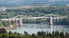 The Menai Suspension Bridge (bvi4092) Tags: uk travel bridge sea water wales photoshop landscape mar nikon unitedkingdom nikkor suspensionbridge menai strait anglesey menaistrait marquessofanglesey nikonafsvr70300f4556gifed d300s menaistraitsuspensionbridge