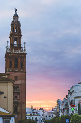 Plaza Blas Infante (Jaime Prez) Tags: plaza sunset espaa tower church square sevilla andaluca spain torre iglesia puestadesol carmona