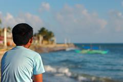 Paint My World (315Edith) Tags: boy sea 50mm seaside dof philippines catanduanes f25 500d