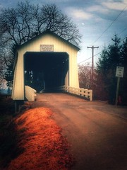 Gallon House Covered Bridge (Ian Sane) Tags: road county bridge house oregon creek ian silverton 5 five images marion ne covered hobart iphone gallon sane abiqua phoneography iphoneography snapseed