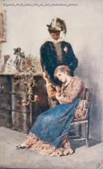 Eugenio Prati Abile olio su tela Collezione privata