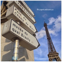 (alyssaBLACK.) Tags: blue summer sky paris france lines architecture clouds eiffeltower perspective toureiffel cloudporn skyporn