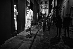 Breaking (Ross Magrath) Tags: from street camera city ireland people bw dublin irish white black colour f