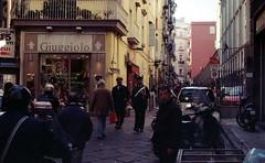 Walking (nuamba) Tags: street people color film walking kodak napoli ricoh kr10x nuamba