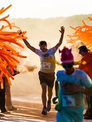 Colours by the Sea (Wouter de Bruijn) Tags: charity orange colors sport paint run dust vlissingen 2013 coloursbythesea