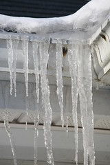 Melting and Freezing (eyriel) Tags: winter cold ice water frozen freeze icicle icicles