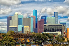 Houston Skyline (Raul's Photography) Tags: texas skyscrapers houston jpmorganchasetower continentalcenter wellsfargobankplaza exxonbuilding centerpointenergyplaza