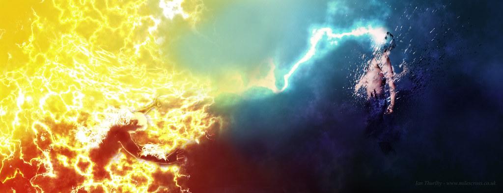 Elemental Lightning Fantasy Art