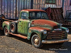 Old Chevy truck high HDR (Walt Barnes) Tags: old chevrolet truck canon eos rust rusty pickup calif chevy worn weathered petaluma hdr pu topaz 60d canoneos60d topazadjust eos60d wdbones99