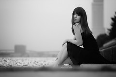 AIRA #008 (HarQ Photography) Tags: portrait bw monochrome fujifilm xt1 xf56mmf12r