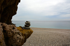 Paisaje Zen (juanmerkader) Tags: ocean espaa naturaleza nature mar spain nikon picture playa almera cabodegata ocano estilodevida playalosmuertos blinkagain nikond7100