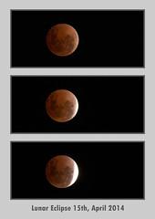 Blood Moon (Lunar Eclipse), 15th April 2014 (jezza323) Tags: red moon eclipse blood triptych pentax devils sigma os apo april devil total 500mm triple lunar dg iso1600 k5 lunareclipse bloodmoon redmoon lightroom 2014 totaleclipse hsm devilsmoon totallunareclipse 150500mm devilmoon sigma150500mmos sigma150500mmapodgos pentaxk5 201404 lightroomprint april2014 20140414 k5ii pentaxk5ii 20140415