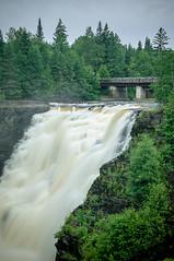 Kakabeka Falls IV (Ian David Blüm) Tags: bridge ontario water forest river landscape waterfall canadian falls northern sheild boreal kakabeka kaministiquia