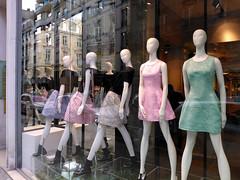 Paris 2014 (Hanoi1933) Tags: paris france mannequin fashion model women mannequins femme streetphotography dresses boutique storefront rue mode groups vitrine parigi robes 2014  parisstreetart groupes   pariswallart mannequion