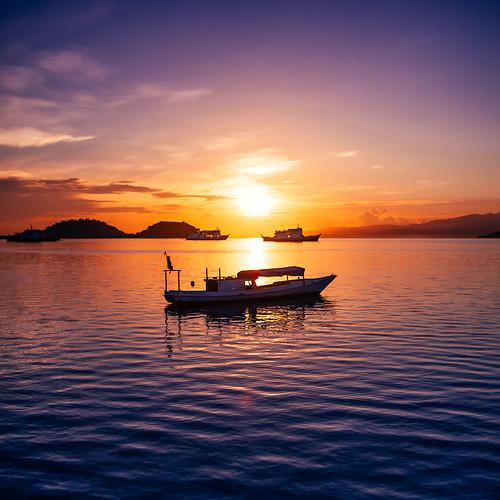 Sunrise at Poto Tano, Sumbawa