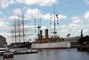 20150628_121037 Cruiser Olympia with tall ship Moshulu (snaebyllej2) Tags: c6 ca15 protectedcruiser ussolympia independenceseaportmuseum cl15 ix40 tallshipsphiladelphiacamden