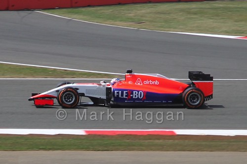 Will Stevens in Free Practice 2 for the 2015 British Grand Prix at Silverstone