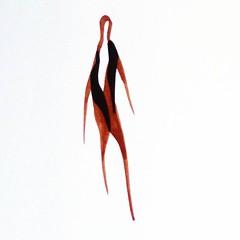 Walking Man. Fashion Shapes Series. Ink on paper. #drawings #shape #ink #fashion #walker