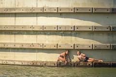 untitled (stevefge) Tags: water waal people girls candid reflectyourworld swim nederland netherlands nijmegen nl