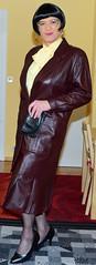 Birgit023858 (Birgit Bach) Tags: pleatedskirt faltenrock bowblouse schleifenbluse suit kostüm leather leder