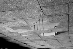 Abstract (CameraCat.) Tags: canon canon550d krakow cracow poland warsaw city monochrome blackandwhite flipped abstract people puddle water murky