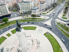 Aerial Shot of Monumento Marques de Pombal