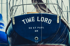 TIME LORD (Tony Webster) Tags: lakecity lakecitymarina lakepepin minnesota mississippiriver sostpaul timelord boat marina ship spring unitedstates us