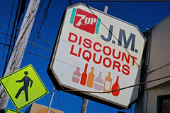 J.M. Discount Liquors, San Francisco, CA (Robby Virus) Tags: sanfrancisco california sf ca jm discount liquors liquor booze alcohol 7up store outer sunset noriega street