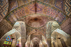 Ceiling of the Nasir al-Mulk Mosque (the Pink Mosque) in Shiraz (Calim*) Tags: iran mosque islam muslim architecture persia persianarchitecture interior ceiling