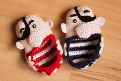 Pirate Booties (friesen4) Tags: babybooties booties pirate pirates crochet crocheting babies