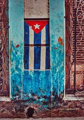 More Fabric of Cuba (augenbrauns) Tags: streetart wallpainting wall flag cubanflag cuba havana