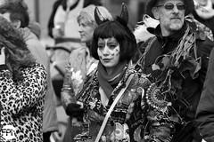 Hearted devil (Frankhuizen Photography) Tags: hearted devil groeëte rogstaekers optocht weert netherlands 2017 street straat candid portret portrait duivel harten hart woman lady vrouw grote carnaval carnival vastenavond vastelaovond black blackandwhite zwart wit white zw bw