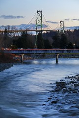 Bridges (Clayton Perry Photoworks) Tags: vancouver bc canada explorebc explorecanada westvancouver lionsgatebridge capilanoriver