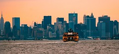 Welcome To New York! (a2roland) Tags: normanzeba2rolandyahoocoma2roland si staten island ferry new york city nyc ny buildings architecture boat water sky orange tint haze bokeh out focus picture pic photo photography nikon d80 state empire sea atlantic ocean evening morning sunset sunrise twilight zoom far near focal point © norman zeb all rights reserved