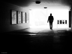 Hallo monday (René Mollet) Tags: monday man backlight blackandwhite blackwhite bw monochromphotographie monochrom street streetphotography silhouette shadow streetart streetphotographiebw renémollet underground step tast spring basel