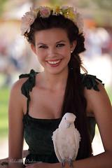 Sydney and the Bird! (eoscatchlight) Tags: model modeling brunette teen renaissancefestival arizonarenaissancefestival renfest goldcanyon arizona bokeh sigma15028macro