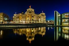 Reichstag building :: Berlin Germay (K.H.Reichert) Tags: night deutschland spree regierungsviertel reichstag nachtaufnahme politik reflexion berlin nightshot reichstagskuppel bundestag spiegelung germany architektur reflection nachtfoto de