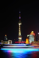 Shanghai @ Night (jasonlsraia) Tags: china shanghai pudong orientalpearltower 2013
