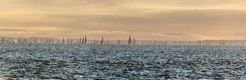 2013 Round the Island Race (RTIR) Panorama.