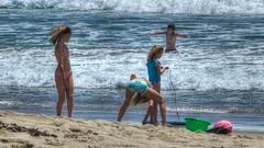Sand (Kevin MG) Tags: ocean ca blue girls usa cute beach water kids children fun losangeles teens malibu zuma bikini bathingsuits zumabeach tonemapped