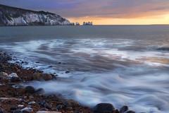 Allum Bay Isle of Wight (www.stewartgibbsphotography.co.uk) Tags: sunset sea landscape bay needles isle wight the allun