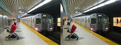 Toronto - Subway (1 of 2) 3D Stereogram (BoogaFrito) Tags: street city toronto ontario canada streets train underground subway stereogram stereophotography 3d crosseye stroller sub trains canadian stereo stereograph magiceye threedimensional crossview