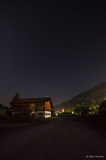 Night view over Sexten