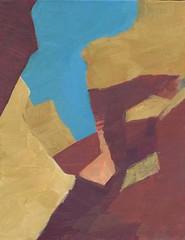 Jamie Chase- Cliff Path- Matthews Gallery (Matthews Gallery) Tags: new newmexico santafe southwest art painting landscape landscapes artist acrylic mexican artists painter painters southwestern canyonroad landofenchantment jamiechase okeeffecountry
