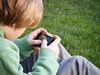 playing on a smart phone (mumography) Tags: life uk england childhood europe realpeople